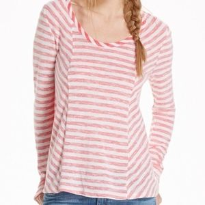 Anthro Saturday Sunday Red Striped Long Sleeve Top